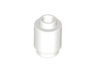 White Brick, Round 1 x 1 Open Stud