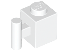 White Brick, Modified 1 x 1 with Handle