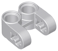 Light Bluish Gray Technic, Axle and Pin Connector Perpendicular Double Split