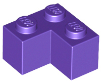 Dark Purple Brick 2 x 2 Corner