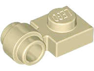 Tan Plate, Modified 1 x 1 with Clip Light - Thick Ring